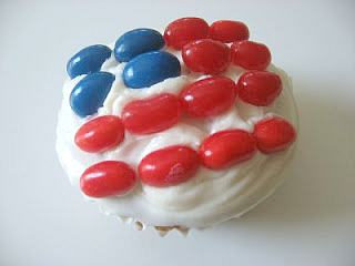 american flag cup cake