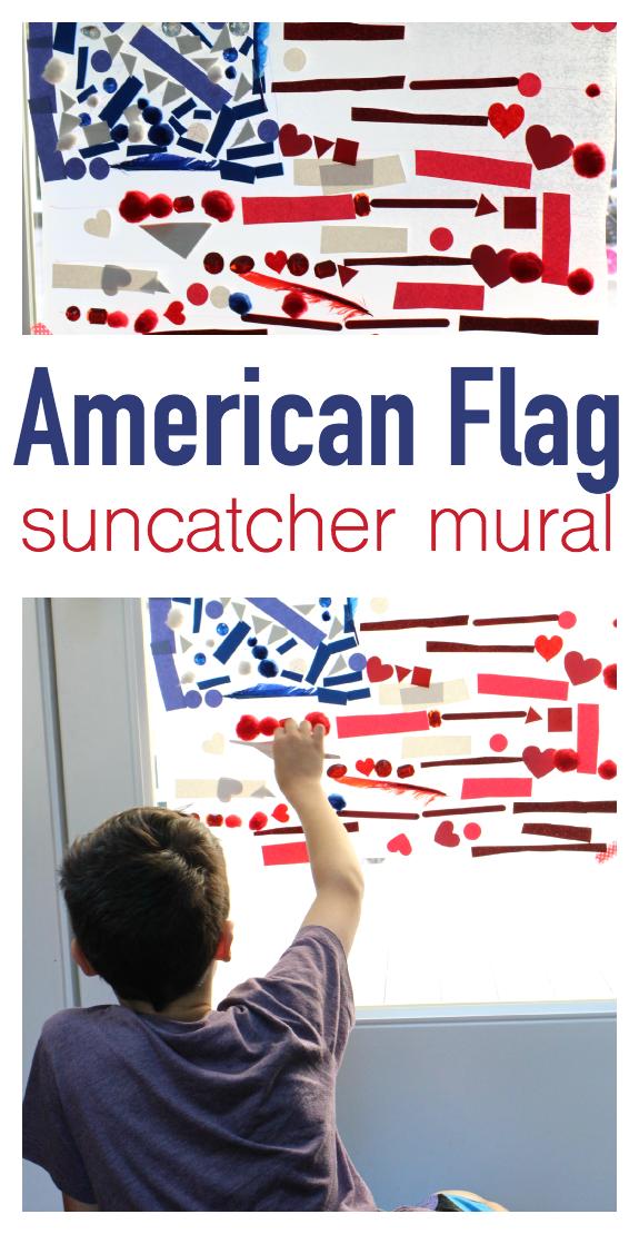 american flag suncatcher 4th of july