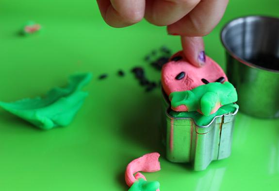 fine motor activity strawberry playdough for kids