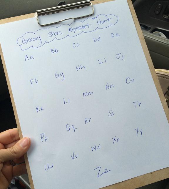 grocery store alphabet hunt