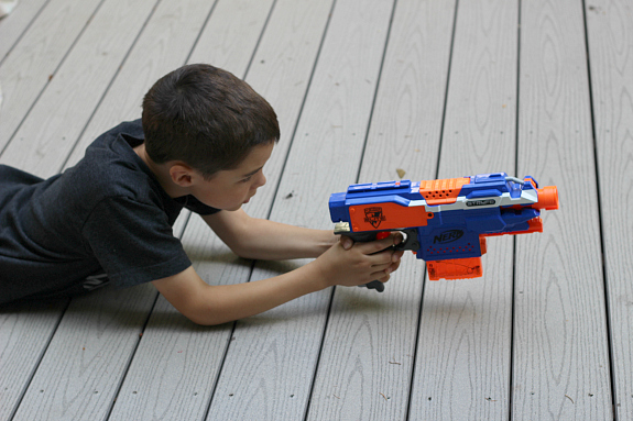 nerf gun water activity for kids