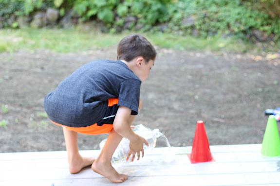 nerf target practice summer activity