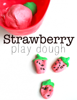 Strawberry Play Dough Sensory Play