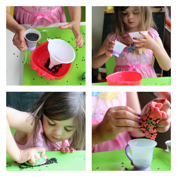 strawberry playdough and sensory exploration