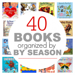 picture books organized by season