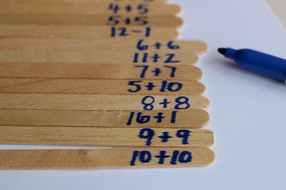 easy math activity elmer's