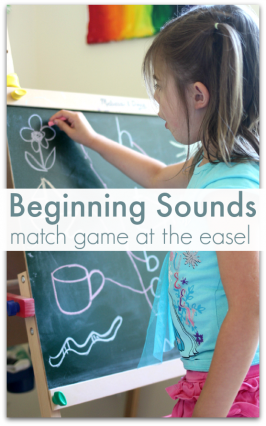 Beginning Sounds Activity – At The Easel