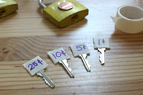 lock and key coin match up
