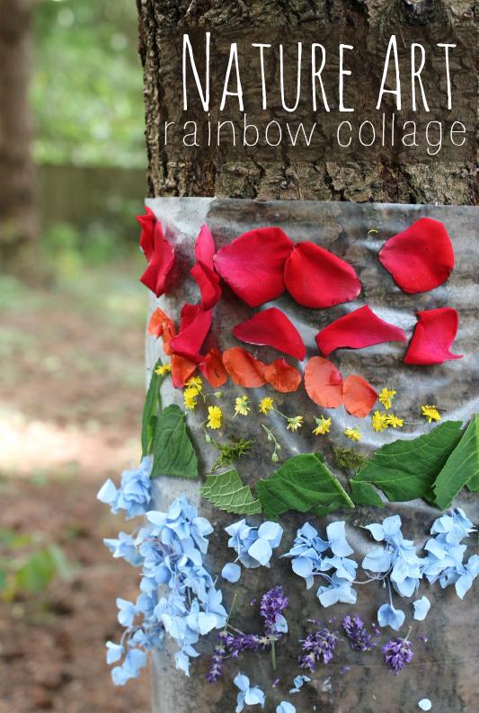 nature art rainbow nature collage
