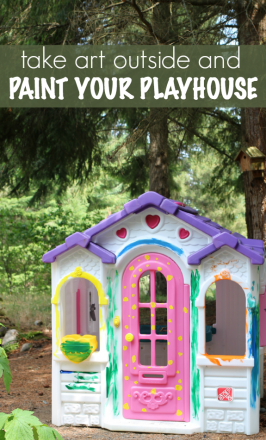 Playhouse Painting – Art Outside