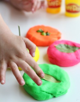 playdough nature activity for kids
