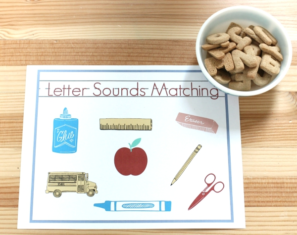 alphabet matching with letter cookies from trader joes