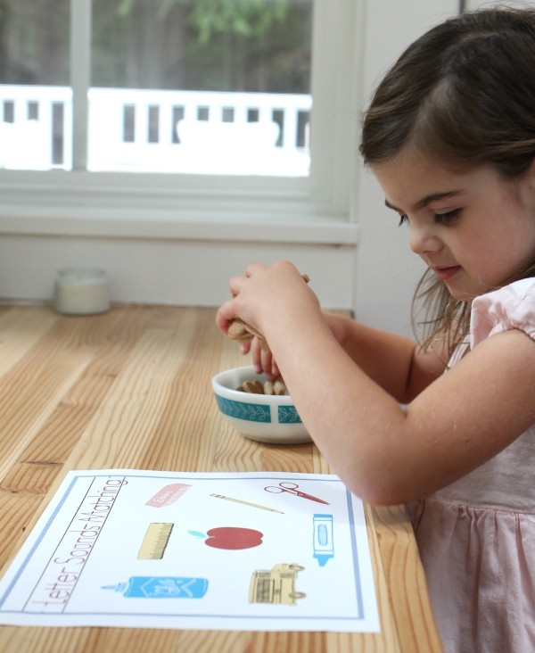 letter sounds free printable for preschool