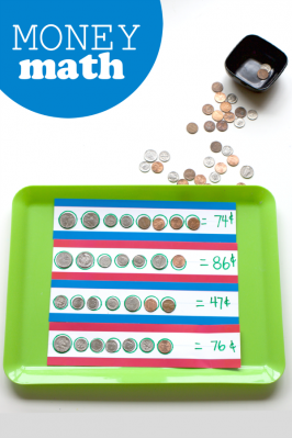Money Math Tray