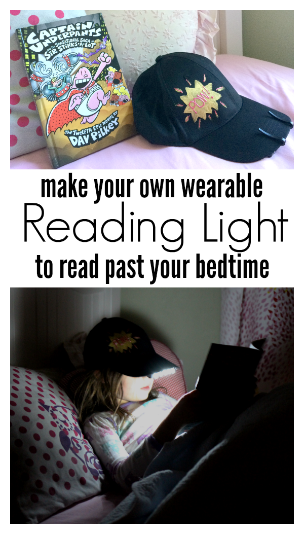 Make your own reading light hat !! No time for flash cards