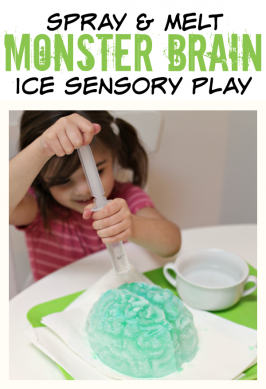 Melt The Monster Brain! Halloween Sensory Play
