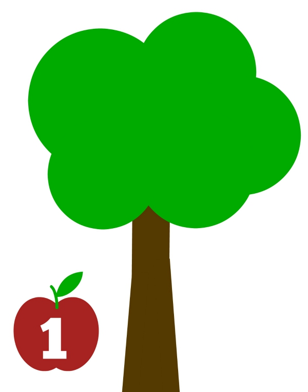 apple tree math mat for fall apple tree