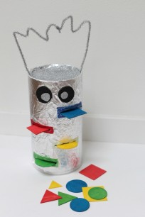 color sorting robot from canister