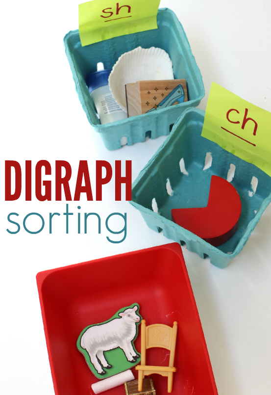 digraph sorting literacy activity no time for flash cards