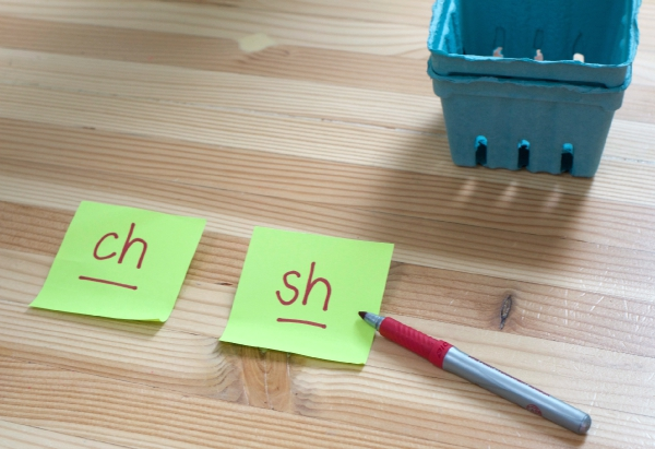 digraph sorting no time for flash cards