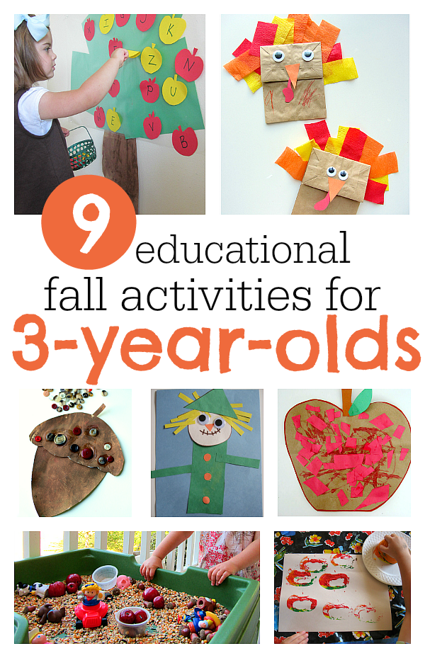 9 must do fall activities for 3 year olds no time for for Crafts for 10 year old birthday party