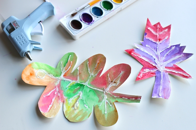 no time for flash cards fall leaf crafts for kids