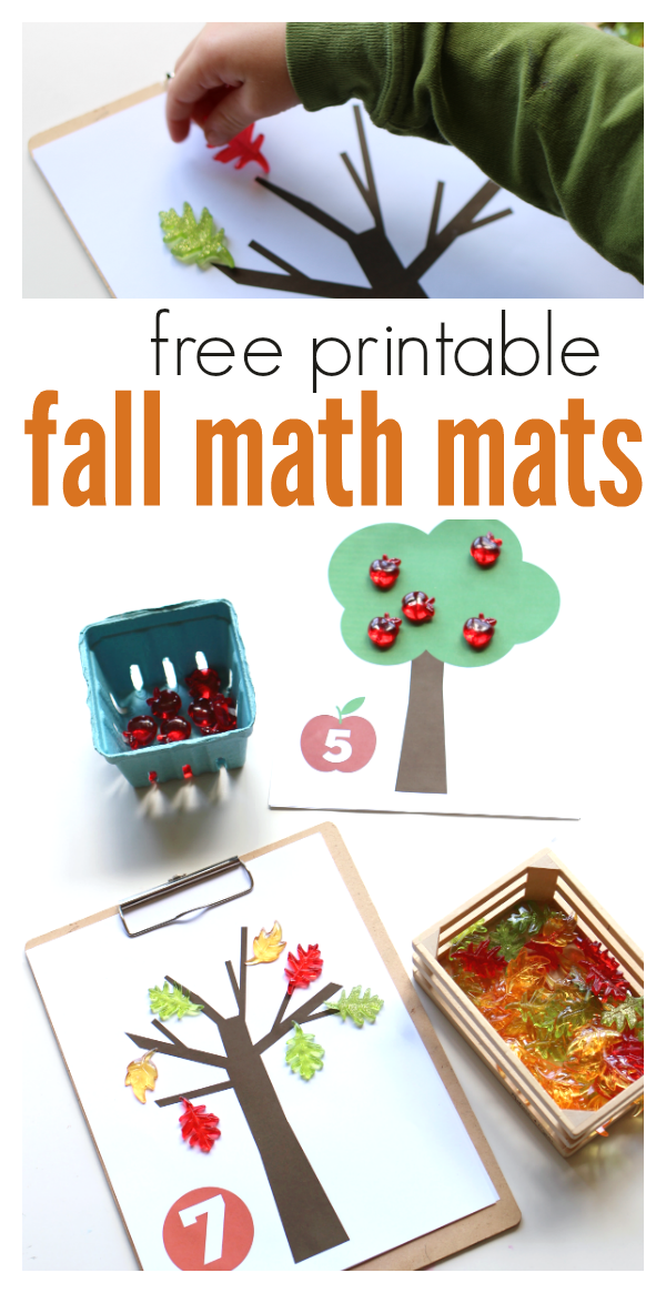 fall free printable math mats from no time for flash cards