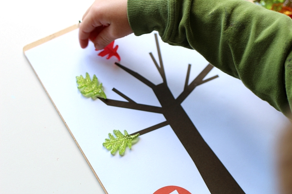 leaf counters math mat for preschool
