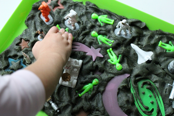 space playdough no time for flash cards preschool blog