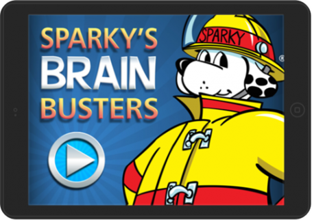 sparky's brain buster app no time for flash cards review