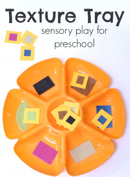 Texture Tray 5 Senses Activity For Preschool