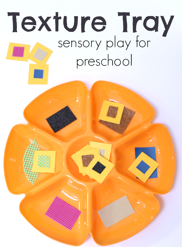 Texture Tray 5 Senses Activity For Preschool - No Time For Flash Cards