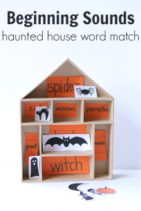 halloween letter match beginning sound