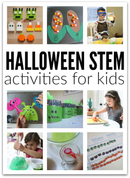 Super awesome and totally easy to do with your kids - STEM Halloween activities for kids from No Time For Flash Cards