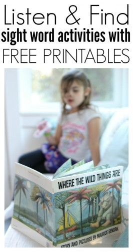 Where The Wild Things Are – Listen & Find Sight Word Activities – FREE Printables