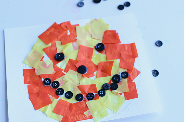 easy halloween craft jack o lantern craft for kids no time for flash cards