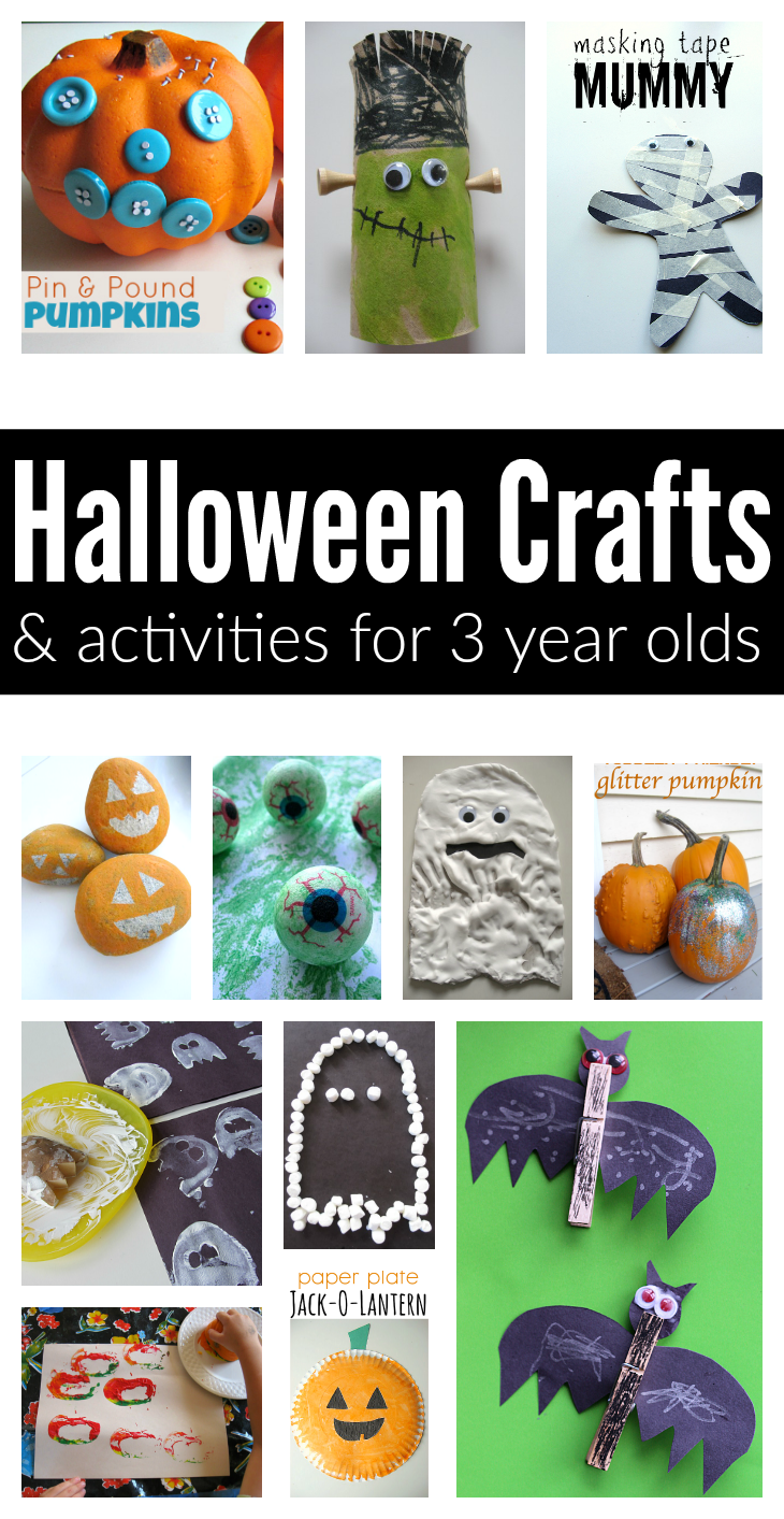List of easy halloween crafts and activities for 3 year olds no time for flash cards