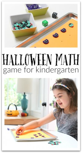 Great Halloween math game kindergaten no time for flash cards