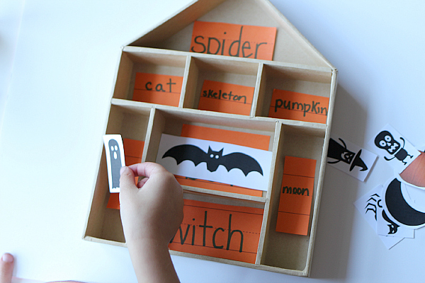 haunted house literacy activity for children notimeforflash cards.com