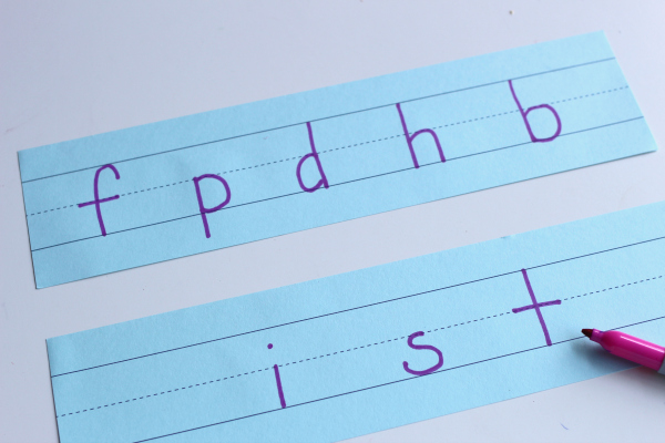 letter sounds activity for literacy center