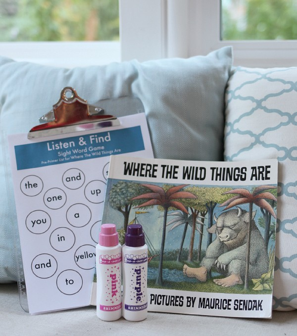 listen and find where the wild things are free printable