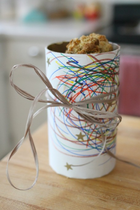 canister gift box and cookies