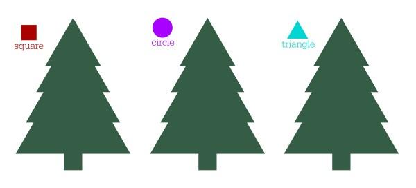 christmas circle time shape sorting