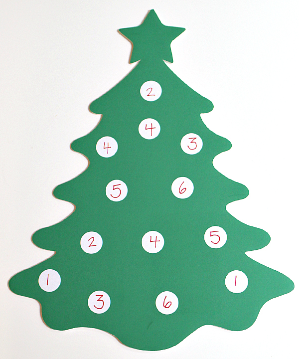 Christmas Tree Math Game For Preschool No Time For Flash Cards