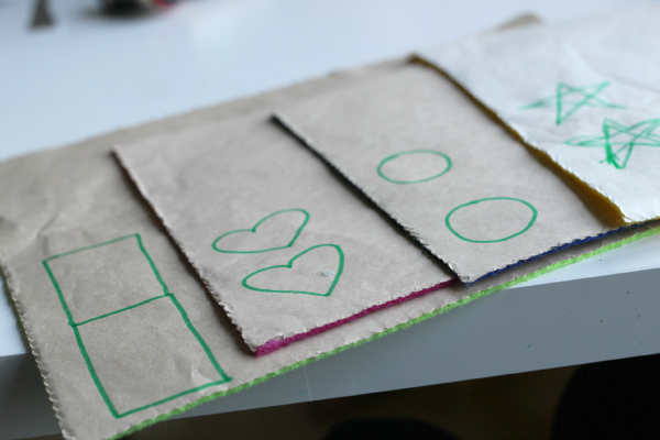 felt shape cards for preschool