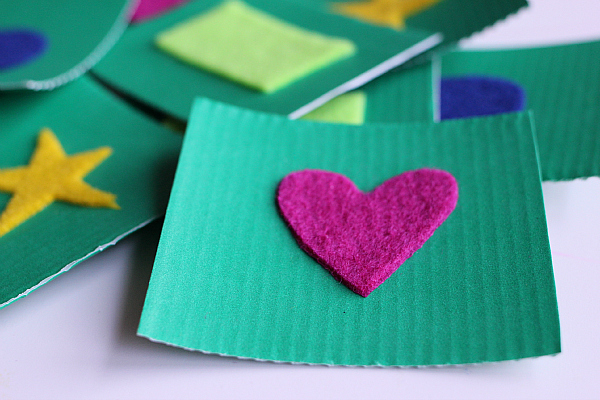 felt shape cards for toddlers