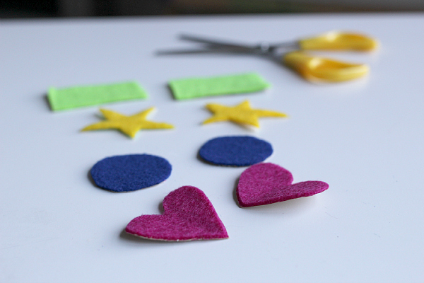felt shape cards math activity for preschool