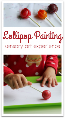 Painting with Lollipops – 5 Senses Art!