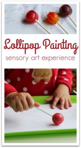 Painting with Lollipops – 5 Senses Art!