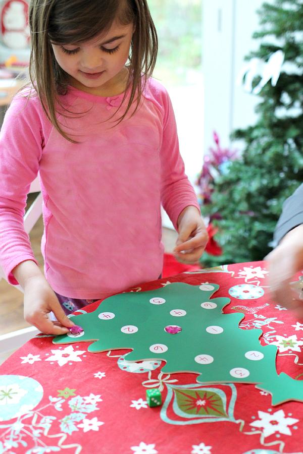 math game for christmas preschool